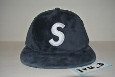 NEW SUPREME SUEDE S LOGO 6 PANEL FW16 BURGUNDY BOX LOGO STRAPBACK BNWT hat comme