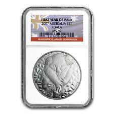 2007 1 oz Silver Australian Koala Coin - First Year of Issue - MS-69 NGC
