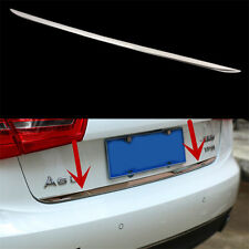 Chrome Rear Tail Gate Molding Trim Cover Stainless Steel For Audi A6 C7 2012-15