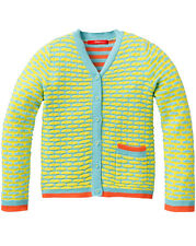 - 50% Oilily~Cardigan~Gr. 10Y/140~KRES~blue yellow~So 2015~NP 109,90 €~Neu