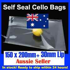 100 CELLOPHANE CELLO CLEAR BAGS - 150mm x 200mm
