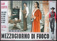 CINEMA-fotobusta MEZZOGIORNO DI FUOCO g. cooper,g.kelly