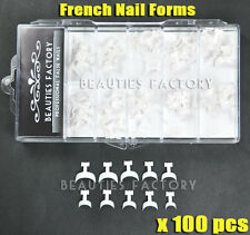 100X French False Acrylic Nail Art Tips Edge Form Guide UV Gel Decoration #513B