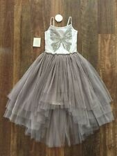 NWT TUTU DU MONDE GIRLS BUTTERFLY EFFECT SILVER WHITE DRESS 8 yrs SZ 8 - 9 WOW!