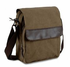 NEW Goodgod Mens Small Vintage Khaki Canvas Messenger Bag Shoulder Bag
