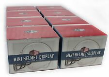 1 Case of 8 - BALLQUBE MINI HELMET HOLDER DISPLAY CASE & PROTECTION