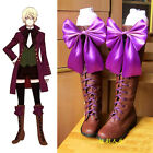 Black Butler 2 Alois Trancy Anime Cosplay Costume Shoes Boots Free Shipping