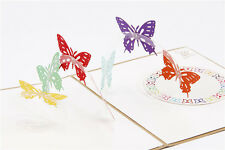 3D Pop Up Greeting Card Butterfly Birthday Easter Anniversary Thanksgiving Gifts