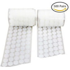 1000pcs 500 Pair 20 Diameter Sticky Back Coins Hook Loop Self Adhesive Dots Tape
