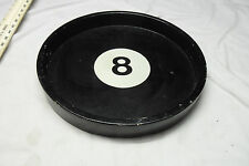 """Vintage 8 Ball Black Wooden 15.5"""" Serving Tray"""