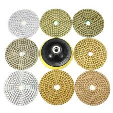 "9x Wet Dry Diamond Polishing Pads 4"" Kit For Granite Concrete Marble Polish New"