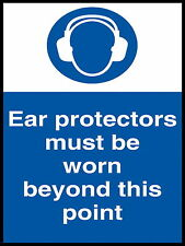 Ear Protectors must be worn metal Aluminium Safety Sign