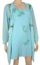 NWT Pretty Angel Plus Sky Blue Silk Flower Tunic 3X 10693