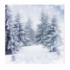 10X10FT Christmas Snow Forest Vinyl Photography Background Studio Backdrop Prop