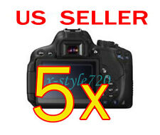 5x Canon EOS 650D Rebel T4i Clear LCD Screen Protector Guard Shield Film