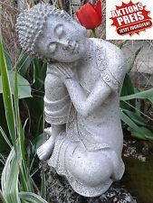 @ Großer Buddha Budda Figur Feng Shui sitzend Steingrau Neu 19,5 cm + Geschenk @