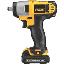 Gun Wrench Kit Cordless DEWALT 12 Volt Lithium Ion Battery 3/8 Drive Impact Tool