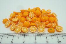 1:12 Scale 12 Halves Oranges Doll House Miniatures Fruit Accessory