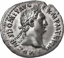Domitian AR Denarius Minerva Thunderbold & Spear COS XVI Authentic Roman Coin
