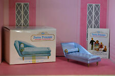 Ideal Petite Princess Blue Boudoir Chaise Lounge / Longue Perfect New Old Stock