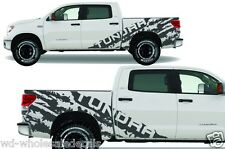 Custom Vinyl Decal TORN Wrap Kit for 07-13 Toyota Tundra 4D CREWMAX Nimbus Gray
