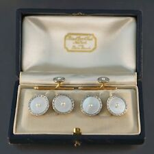 Carrington & Co., Black Starr & Frost 14K Gold, Pearl Cufflink 2 Stud Tuxedo Set