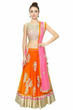 Fabdiwa Fashion new stylist orange indian Designer lehenga