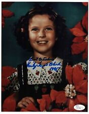 """Shirley Temple Black REAL hand SIGNED 8x10"""" young Photo + JSA COA #4 Autographed"""