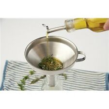 Fox Run Stainless Steel Funnel with Removable Strainer