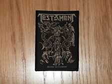 TESTAMENT - DEMONARCHY (NEW) SEW ON W-PATCH OFFICIAL BAND MERCHANDISE