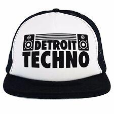 Cappello Techno Detroit Dj, Trucker cap nero bianco, musica elettronica dance