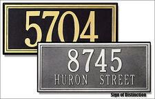 Whitehall Double-Line Personalized Address Marker Sign Plaque for Home or Office