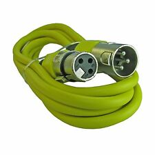 6 ft yellow XLR MALE TO FEMALE MICROPHONE CABLE CORD
