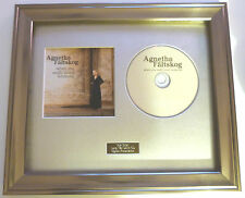 AGNETHA FALTSKOG - WHEN YOU REALLY LOVED SOMEONE FRAMED PRESENTATION. RARE.ABBA