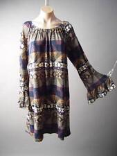 Southwest Tribal Tapestry Pattern Desert 70s Boho Sweater Knit 124 ac Dress XL