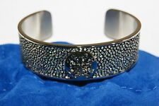 "New Authentic Rustic Cuff Metallic Silver Daniele Stingray .75"" Bracelet RC"