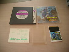 THUNDER BLADE SEGA SHOOT PC ENGINE JAPAN IMPORT CIB!