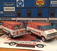 Papercraft DODGE Coca-Cola Tradesman Van Christmas Truck PaperCar  EZU build