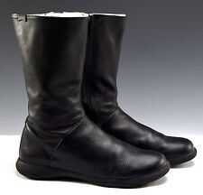 Women's Camper Black Leather Spiral Boots - Sz 40 (US Size 9 - 9.5)
