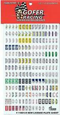 GOFER Racing, License Plate Decals, Assorted 1/24 -25 11001 ST