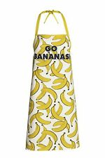 NEW Fab Organic Cotton H&M Go Bananas Patterned Apron Vegan Vegetarian Fun Fruit