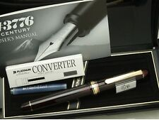 Japanese FP PLATINUM #3776 CENTURY BOURGOGNE 14K Medium-nib with Converter
