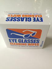 Sunglasses Cleaning Wipes *pre moistened* Spectacle Cleaner*Lens cleaner x 100