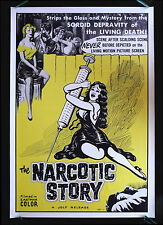 THE NARCOTIC STORY * CineMasterpieces MOVIE POSTER DRUGS 58 CULT SYRINGE NEEDLE