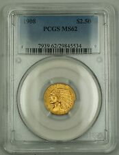 1908 $2.50 Gold Quarter Eagle Coin Pcgs Ms-62 (Better Coin)