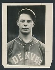 1927 BILL WALKER Denver Grizzlies (Major League Star) Vintage Baseball Photo