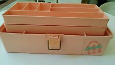 Vintage Pink Caboodles Of California Make Up & Accessory Case c.1980's Dbl Tray