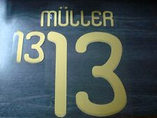 MULLER #13 Germany Away World Cup 2010 Name Number PU PRINT
