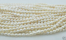"""1 strand 7-8 mm White rice Freshwater Pearl Loose Beads 15"""""""