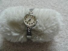 Waltham 17 Jewels Wind Up Ladies Watch with a Stretch Band